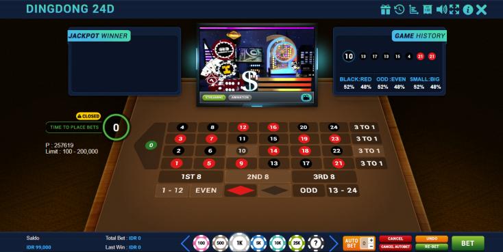 Contoh Panel Betting Dingdong 24D